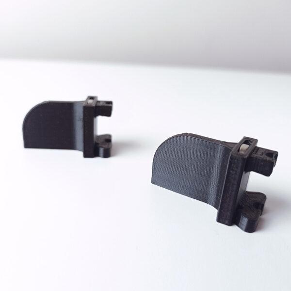 String Art Helper uchwyt do wbijania gwoździ. Zdjęcie produktu z boku przedstawiające dwa warianty rozmiarów.